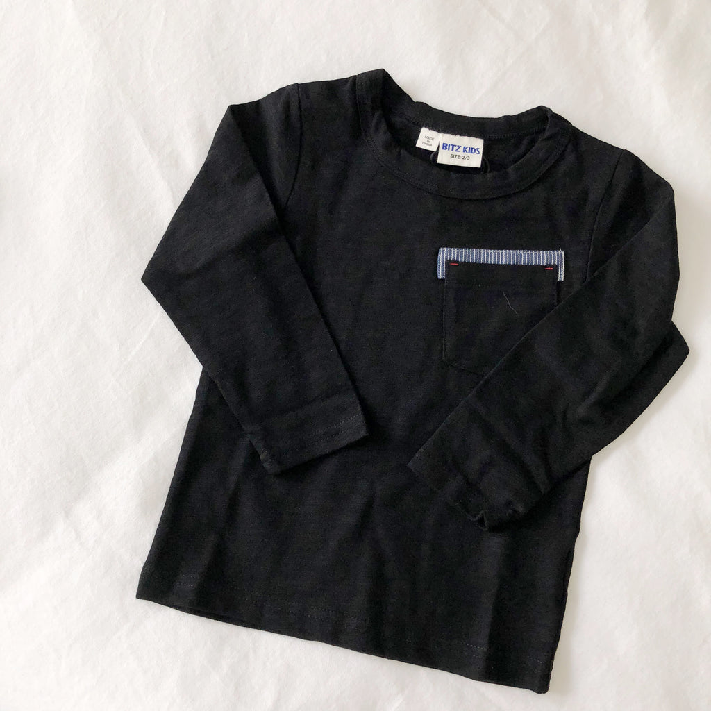 Contrast Pocket Tee - Blue Sage Baby + Kids