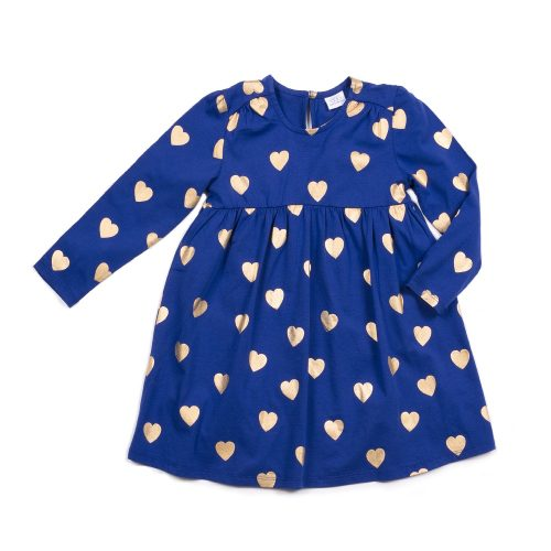 Bethany Heart Print Dress - Blue Sage Baby + Kids