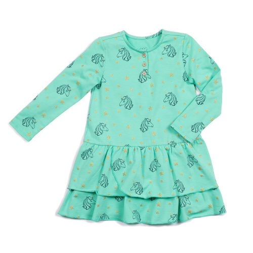 Claire Unicorn Dress - Blue Sage Baby + Kids
