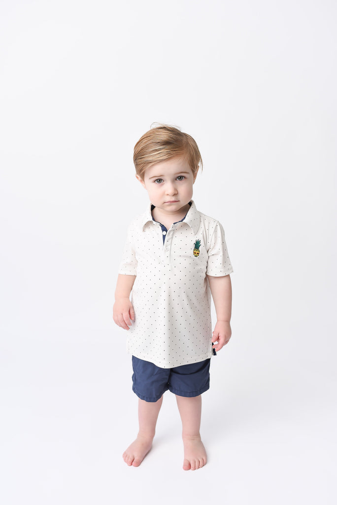 Cameron Dry Fit Polo - Blue Sage Baby + Kids