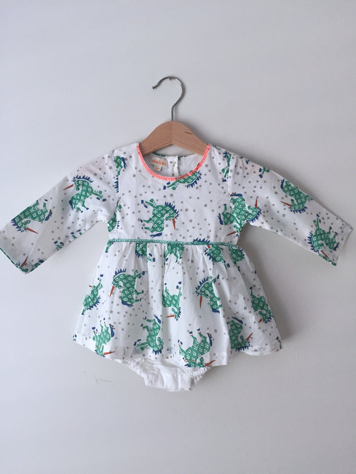 Unicorn Dress - Blue Sage Baby + Kids