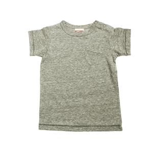 Basic Pocket Tee - Gray - Blue Sage Baby + Kids
