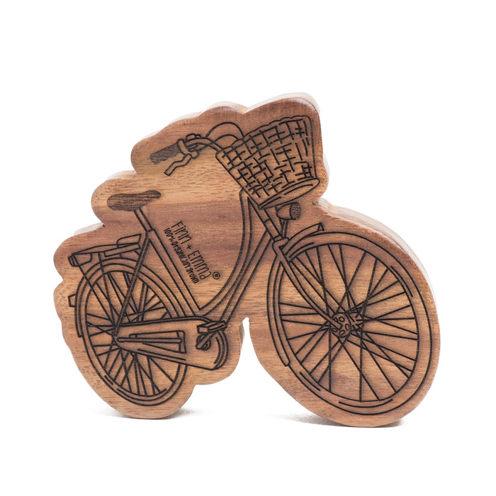 Bicycle Wooden Rattle Teether - Blue Sage Baby + Kids