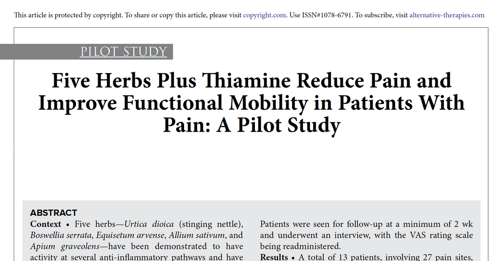 Pain Study Proves Efficacy