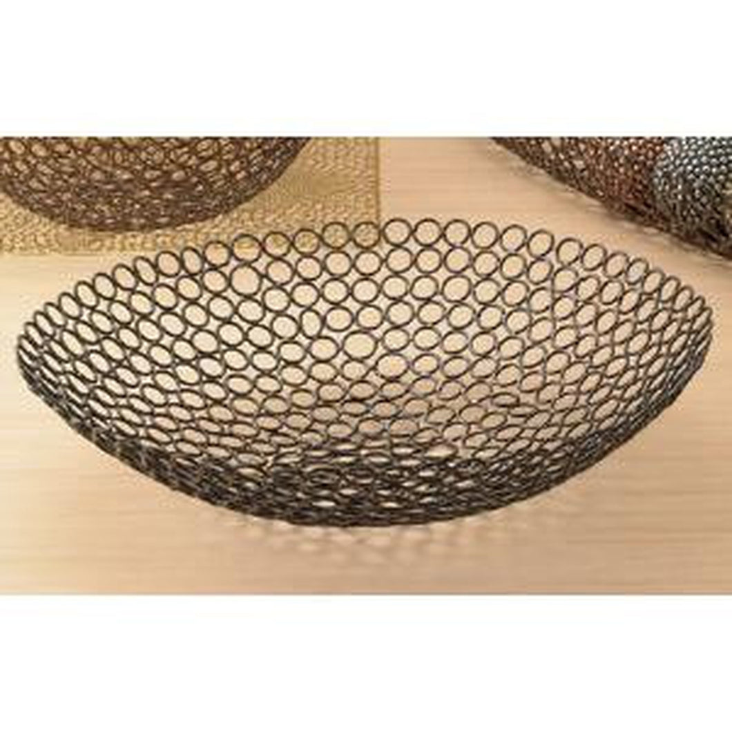 Copper Round Circle Link Basket