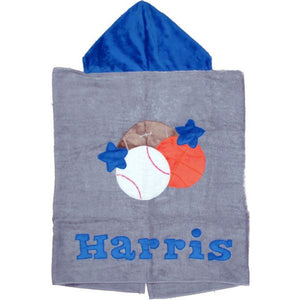 Hooded Toddler Towels-Sports Designs  (Click to see more)