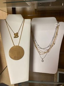 Necklace - Large Gold Disc