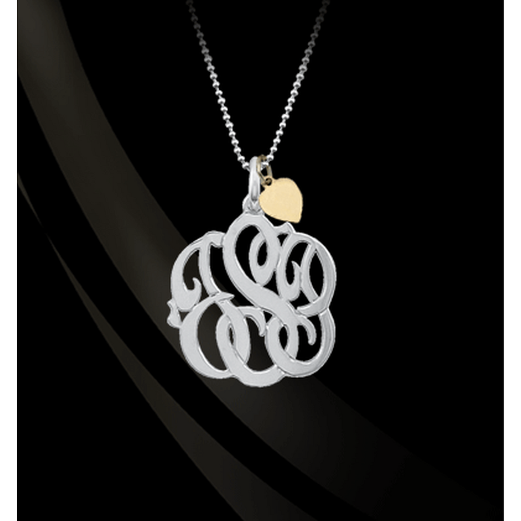 Necklace-Mommy Monogram with Chain