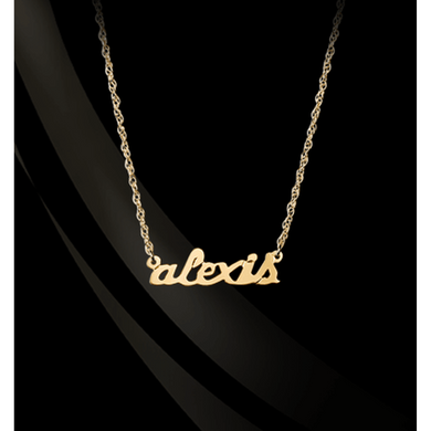 Necklace--Petite Lowercase name necklace
