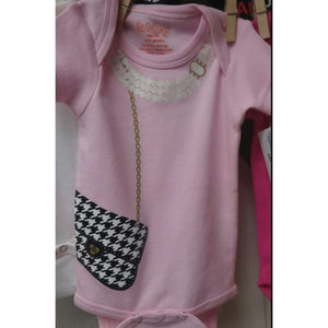 Onesie- Pearl & Houndstooth Purse