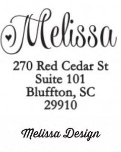 Personalized Rectangle Stamper- Melissa Design