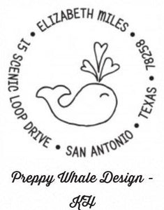 Personalized Stamper-Preppy Whale