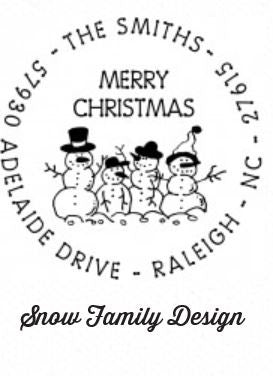 Personalized Stamper-Snow Family