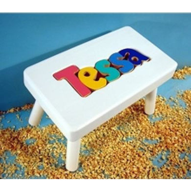 Stools-White Name Puzzle (Click to see more options)