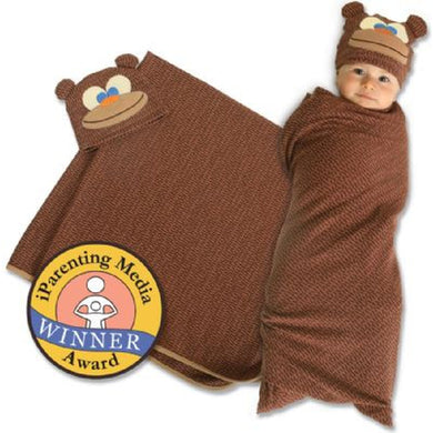 Swaddle Monkey and Cap Set