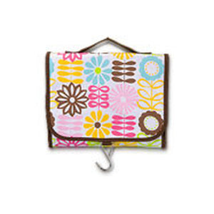 Tri-Fold Cosmetic Case Fun Flower