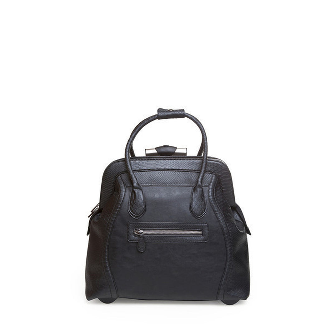 Trolley Executive Rolling Bag Black Reptile
