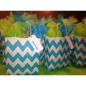 Welcome Bags- Blue Chevron