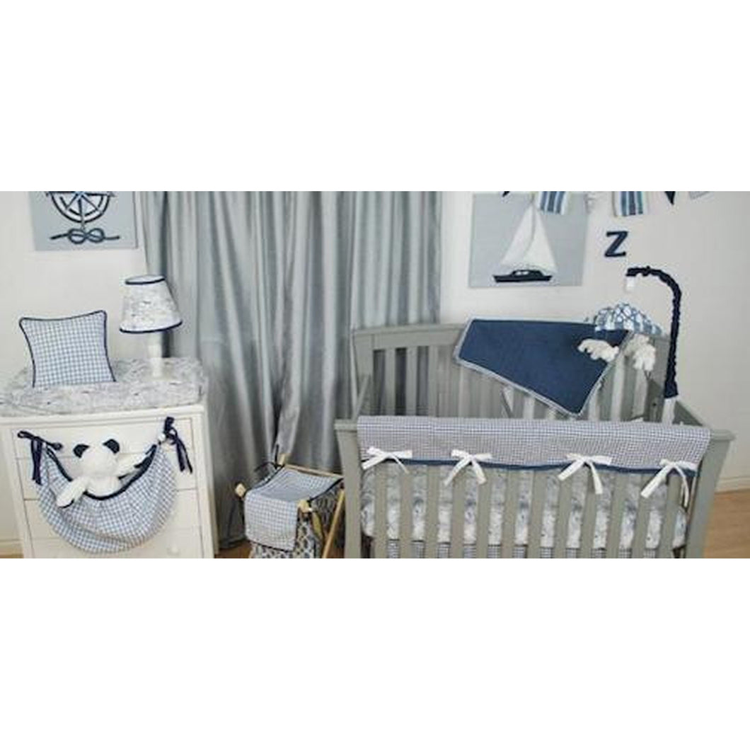 Crib Bedding-Aqua, Grey and Ivory use this