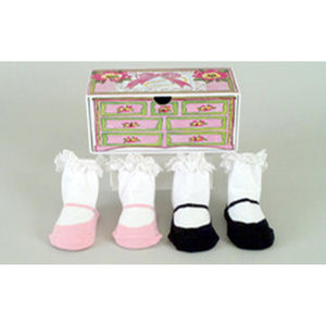 Baby Socks -Tea for Two 2 pair