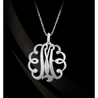 Necklace-Swirl Initial Pendant
