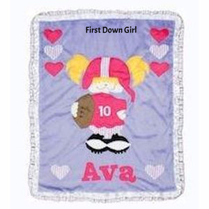 First Down Girl Boogie Baby Blanket