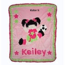 Kickin It Girl Boogie Baby Blanket