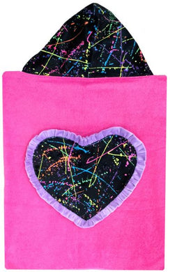 Hooded Toddler Towels - Hearts and Flowers  (Click to see more)
