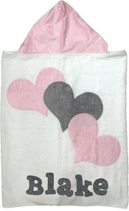 Boogie Baby Towel Triple Hearts