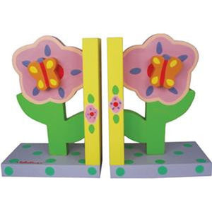 Bookends-Pastel Flowers