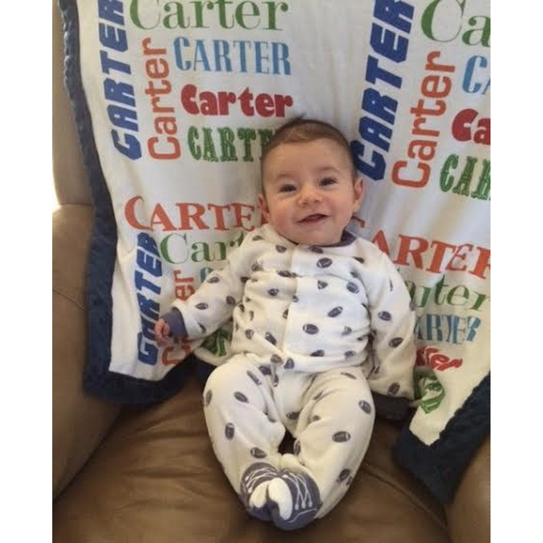 Baby Carter with Organic Name Blanket