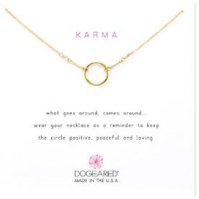 Necklace-Dogeared Original Karma Necklace, gold dipped
