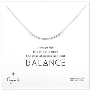 Necklace-Dogeared Sterling Silver Balance Tube Necklace