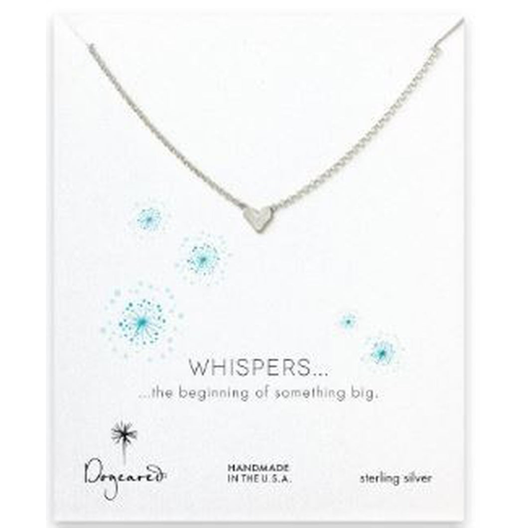 Necklace-Dogeared Whispers Heart Necklace, sterling silver