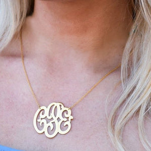 Necklace-Freeform Script Monogram