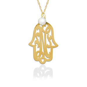 Hamsa with Lace Initial