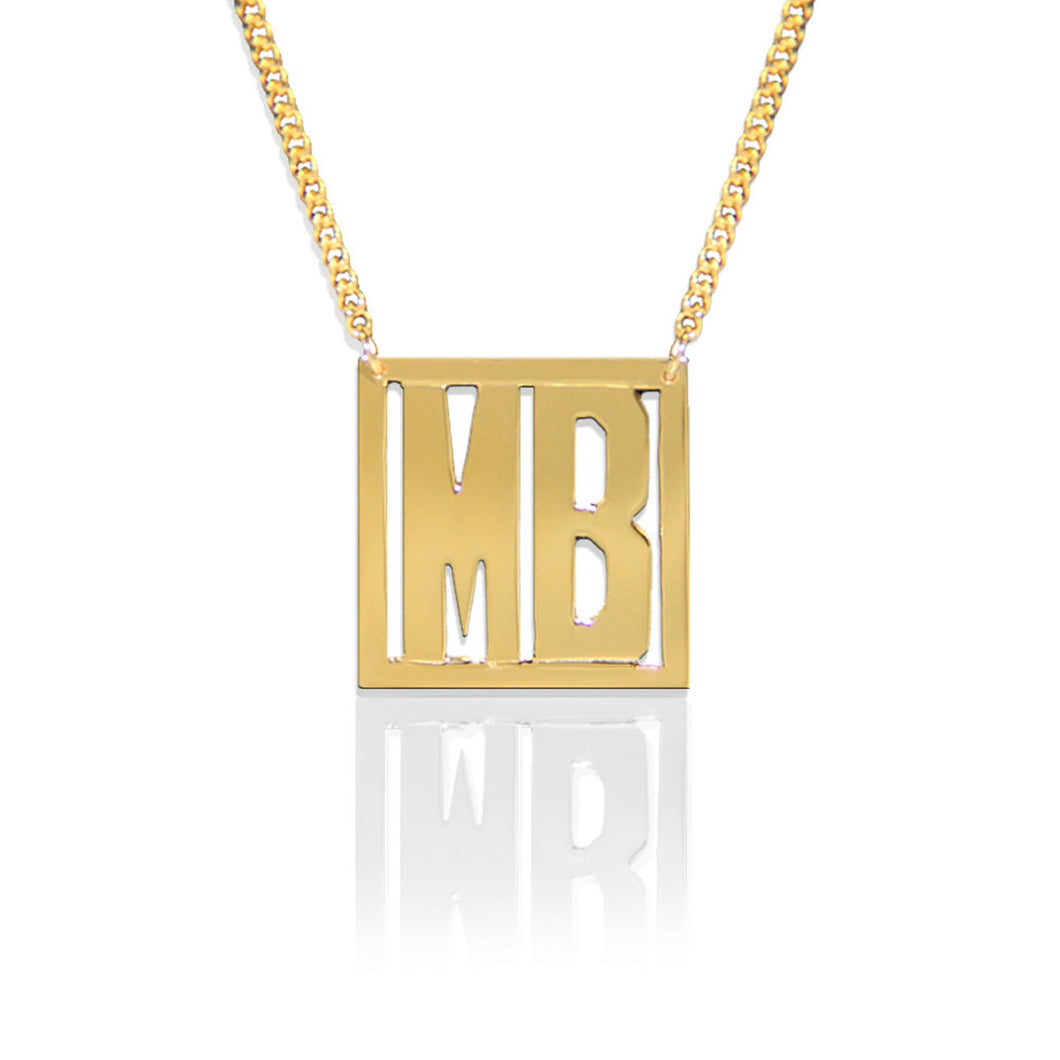 Necklace-Initial Square