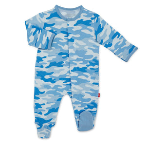 Onsie- Magnetic closure Blue Camo