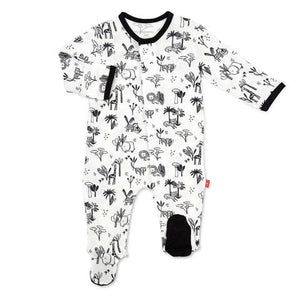 Onsie Magnetic Closure Black/White Animal Safari with or without matching Lovie