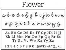 Personalized Rectangle Stamper- Flower Design