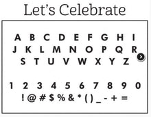 Personalized Stamper-Let's Celebrate