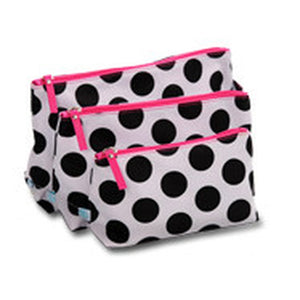 3 Piece Cosmetic Bag 80's Dot