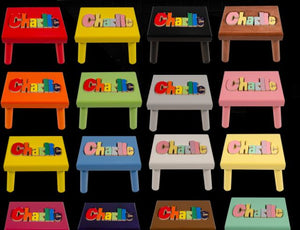 Colored Name Puzzle Stool (Click to see more options)