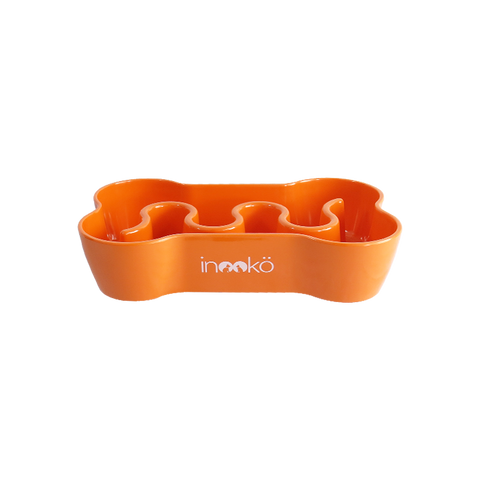 Gamelle anti-glouton orange