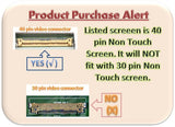 Samsung 15.6in 1366x768 HD LED LCD Screen/Display Replacement for Toshiba Satellite C850-ST3NX2 (PSCBLU-00J00J)
