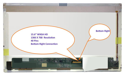 15.6' WXGA 1366*768 Glossy LED Widescreen Left Connector PN: B156XW02