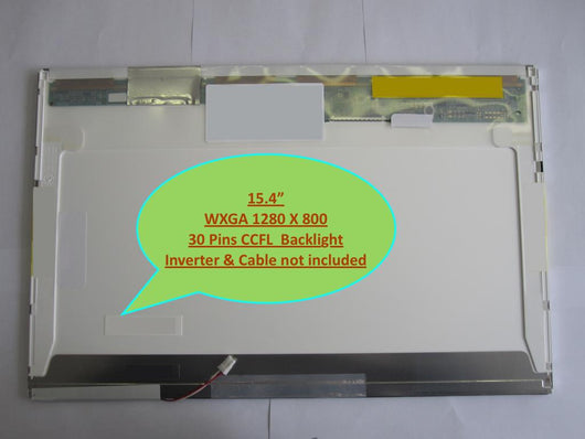 15.4' Wxga Wide Single CCFL Lcd Screen for Gateway M-1408j M-1410j M-1411j M-1412 M-150S M-150X M-150XL M-151S M-151X M-151XL M-152S M-152XL M-153S M-153X M-153XL M-1615 M-1617 M-1618 M-1618N M-1618R