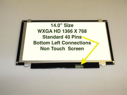 14' WXGA Matte Laptop LED Screen For Toshiba Y000001380