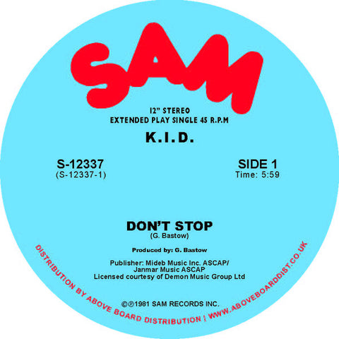K.I.D. - Don't Stop/ Do It Again