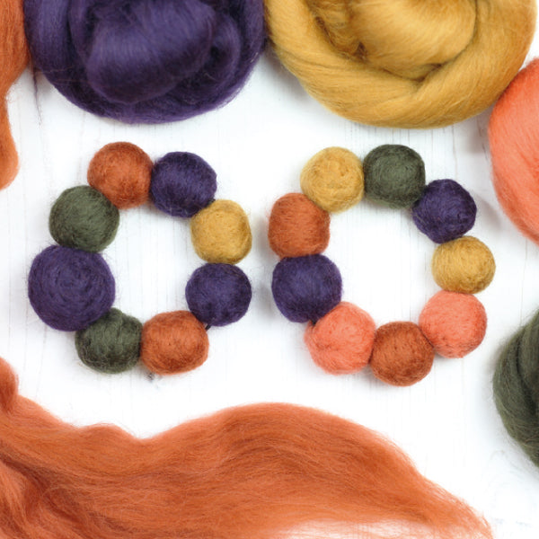 How to make a needle felted bead bracelet